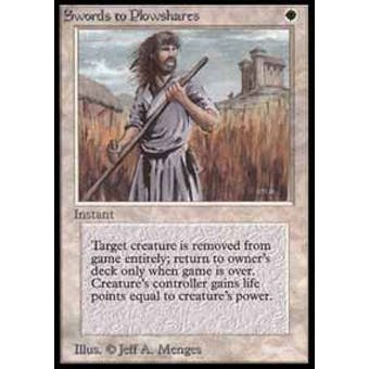 Magic the Gathering Beta Single Swords to Plowshares - NEAR MINT (NM)