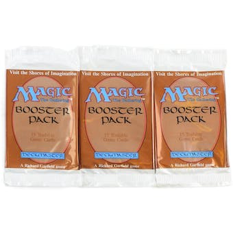 Magic the Gathering 3x Empty Beta Booster Pack Wrappers from GenCon 2018 Beta Draft (v3)