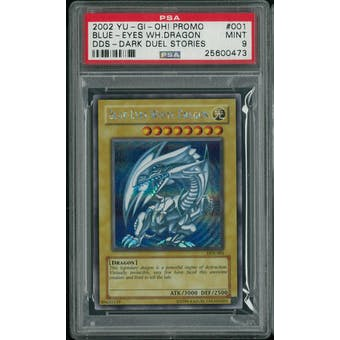 Yu-Gi-Oh Dark Duel Stories DDS Blue-Eyes White Dragon DDS-001 PSA 9