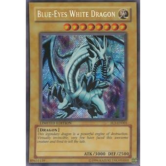Yu-Gi-Oh Promo Single Blue-Eyes White Dragon Secret Rare (FL1-EN001)