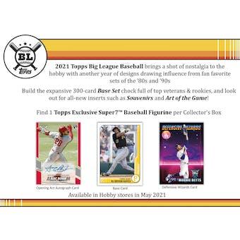 2021 Topps Big League Baseball Hobby Box (Presell)