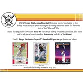 2021 Topps Big League Baseball Collector Hobby Box (Presell)