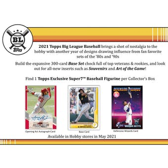 2021 Topps Big League Baseball Collector Hobby 16-Box Case (Presell)
