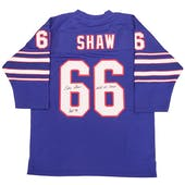 Billy Shaw Autographed Buffalo Bills Jersey w/ HOF 99 & AFL Champs