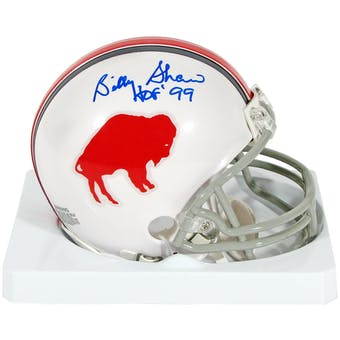 Billy Shaw Autographed Buffalo Bills Mini AFL Throwback Football Helmet