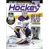 2019 Beckett Hockey Monthly Price Guide (#322 June) (Jordan Binnington)