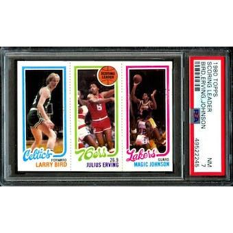 1980/81 Topps Larry Bird/Magic PSA 7 card #