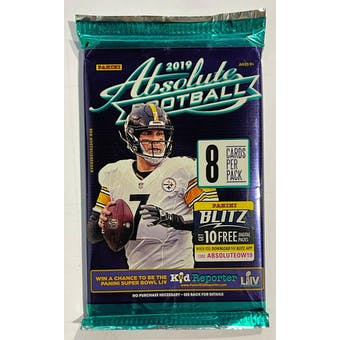 2019 Panini Absolute Football Blaster Pack