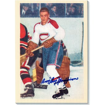 Boom Boom Geoffrion Autographed Montreal Canadiens 8x11 Print (DACW COA)