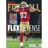 2020 Beckett Football Monthly Price Guide (#350 March) (Nick Bosa)