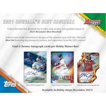 2021 Bowman's Best Baseball Hobby 8-Box Case (Presell)