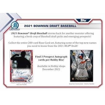 2021 Bowman Draft Baseball Hobby Jumbo 8-Box Case (Presell)