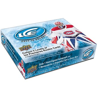 2017/18 Upper Deck Ice Hockey 10-Box Case- DACW Live 31 Team Random Break #8