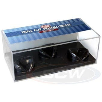 Ball Qube Triple Play 3 Ball Baseball Display