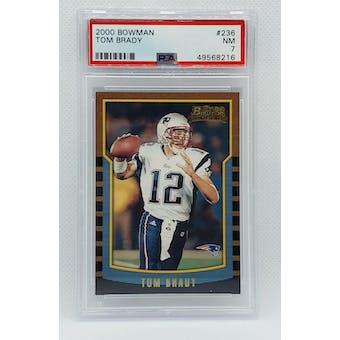 2000 Bowman Tom Brady PSA 7 card #236