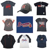 Atlanta Braves Officially Licensed MLB Apparel Liquidation - 460+ Items, $18,500+ SRP!