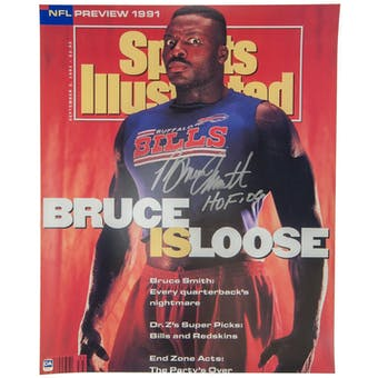 Bruce Smith Autographed Buffalo Bills 16x20 Cover Photo