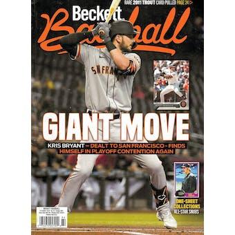 2021 Beckett Baseball Monthly Price Guide (#187 October) (Kris Bryant)