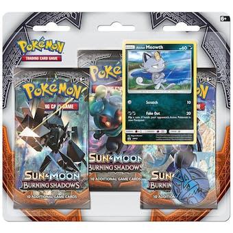 Pokemon Sun & Moon: Burning Shadows 3 Booster Pack Blister