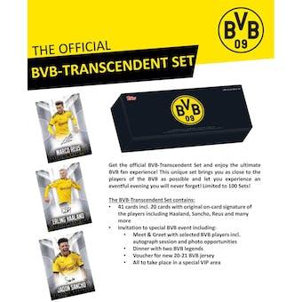 2020 Topps Borussia Dortmund BVB Transcendent Soccer Hobby Box