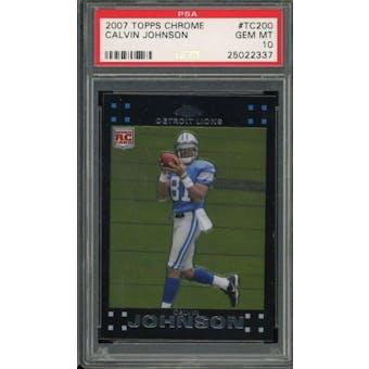 2007 Topps Chrome Calvin Johnson PSA 10 card #TC200