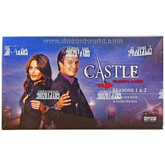 Castle Seasons 1 & 2 Trading Cards Box (Cryptozoic 2013)