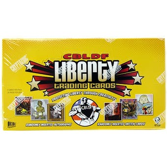 Comic Book Legal Defense Fund Liberty Trading Cards Box (Cryptozoic 2011)