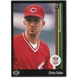 1989 Upper Deck Chris Sabo Cincinnati Reds #663 Black Border Proof