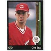 1989 Upper Deck Chris Sabo Cincinnati Reds #663 Black Border Proof