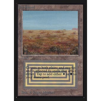 Magic the Gathering Beta Collector's Edition CE IE Single Scrubland SLIGHT PLAY (SP)
