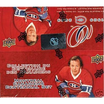 2008/09 Upper Deck Montreal Canadiens Centennial Hockey 24-Pack Box
