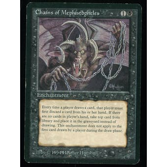 Magic the Gathering Legends Single Chains of Mephistopheles - MODERATE PLAY plus (MP+)
