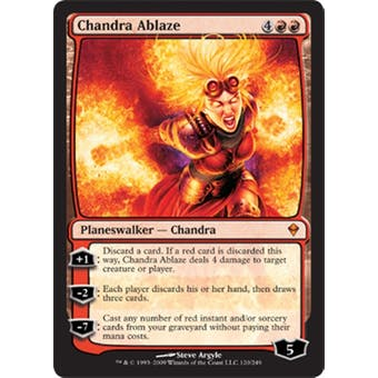Magic the Gathering Zendikar Single Chandra Ablaze Foil