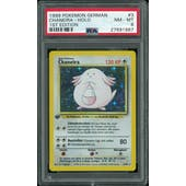 Pokemon Base Set 1st Edition GERMAN Chansey Chaneira 3/102 PSA 8