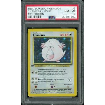 Pokemon Base Set 1st Edition GERMAN Chansey Chaneira 3/102 PSA 8