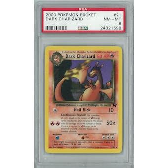 Pokemon Team Rocket Dark Charizard 21/82 PSA 8