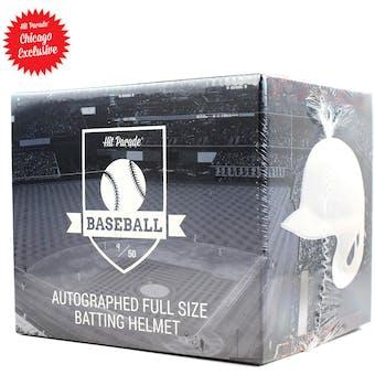 2018 Hit Parade Autographed Baseball Batting Helmet Hobby Box - CHICAGO EXCLUSIVE - Kris Bryant & J.D. Martine