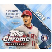 2018 Topps Chrome Baseball Hobby Jumbo Box
