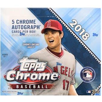 2018 Topps Chrome Baseball Hobby Jumbo Box