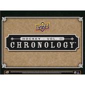 2019/20 Upper Deck Chronology Volume 2 Hockey Hobby 8-Box Case (Presell)