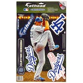 Fathead Clayton Kershaw Los Angeles Dodgers Teammate Wall Graphic (Lot of 10) 7x17