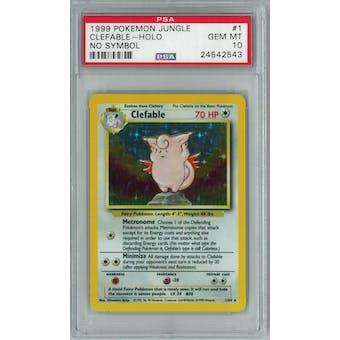 Pokemon Jungle No Symbol Clefable 1/64 PSA 10 GEM MINT