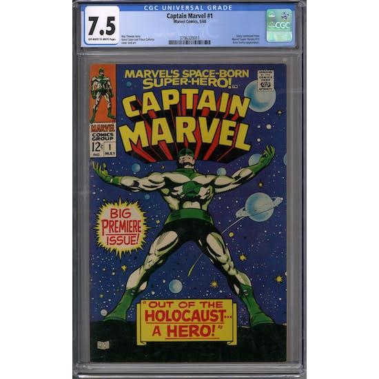 Captain Marvel #1 CGC 7.5 (OW-W) *3796320011*