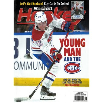 2021 Beckett Hockey Monthly Price Guide (#349 September) (Cole Caufield)