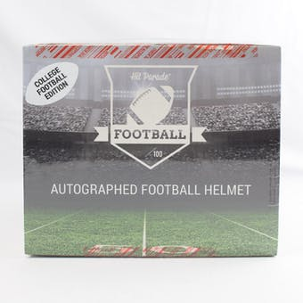 2019 Hit Parade Autographed Full Size College Football Helmet Hobby Box - Series 1 - Rodgers, Barkley, Mahomes