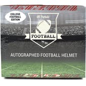 2021 Hit Parade Autographed FS College Football Helmet Hobby Box -Series 2 - Manning, Rodgers & Lawrence!