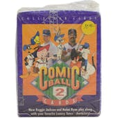 1991 Upper Deck Comic Ball Series 2 Baseball Wax Box (Reed Buy)