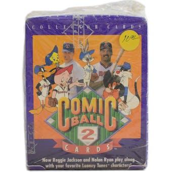 1991 Upper Deck Comic Ball Series 2 Baseball Wax Box (Reed Buy)