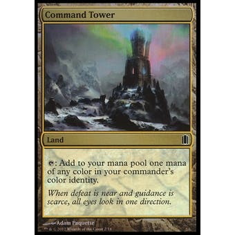 Magic the Gathering Commander's Arsenal Single Command Tower Foil - NEAR MINT (NM)