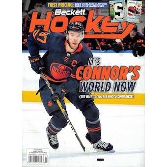 2021 Beckett Hockey Monthly Price Guide (#347 July) (Connor McDavid)